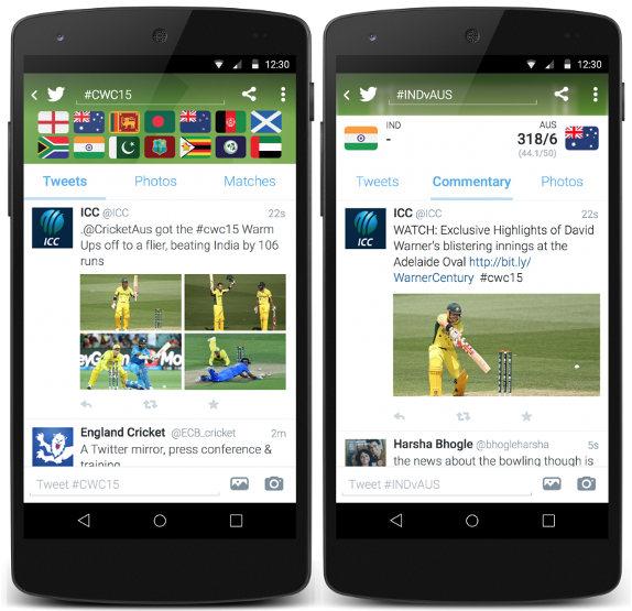 Twitter-ICC-Cricket timeline