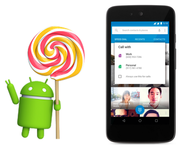 Android 5.1 Lollipop Google