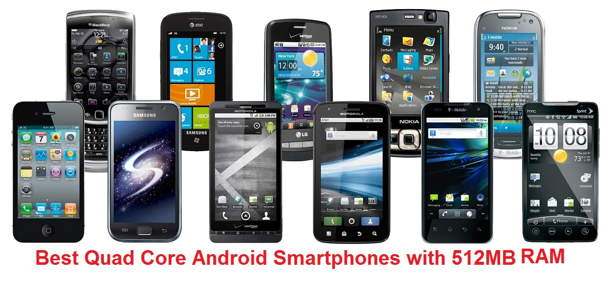 Best Quad Core Android Mobile Phones with 512MB RAM pricing between Rs. 4000 to Rs. 3000