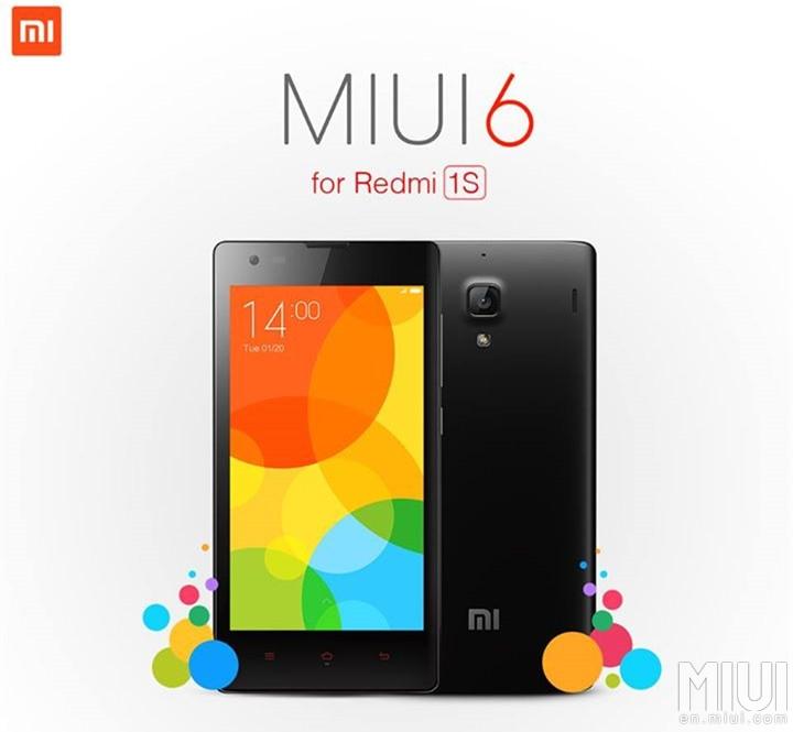 Xiaomi Redmi 1S MIUI 6 V6.6.1.0.KHCMICF update