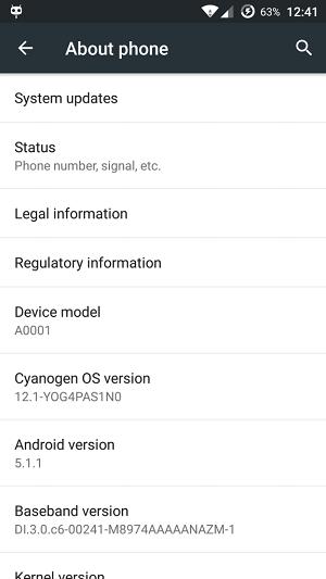 Cyanogen OS 12.1 YOG4PAS1NO