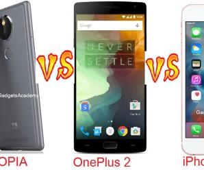 YU YUTOPIA vs OnePlus 2 vs iPhone 6s